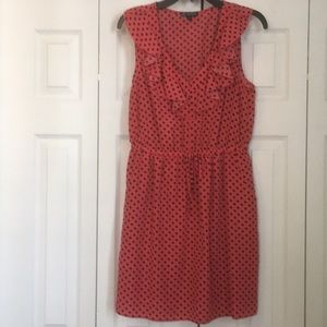 BeBop ruffle neck dot dress